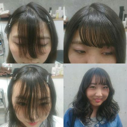 ミディアム 前髪カット✂伸ばしかけから透けバング☆