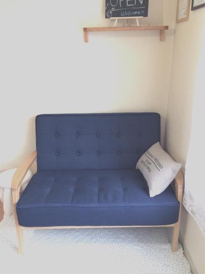 フットジェルはこちらのソファで施術いたします(^^) miinail所属・清水美喜のフォト