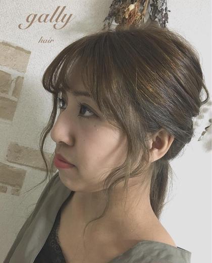 ヘアアレンジ ロング ○前髪&後れ毛cut✂︎○  顔まわりのデザインは アレンジした時などの可愛いポイントです☝︎