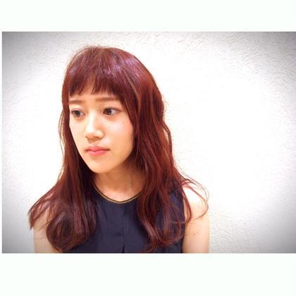 オン眉✖️チェリーピンク   えみちぃカラー^ ^   カジュアルスタイルにぴったりです!!!   モードケイズ六甲道店所属・森翔矢のスタイル