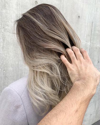 〔今流行りの外国人風hairに近づける〕 バレイヤージュカラー&トリートメント