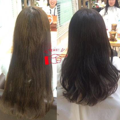 カットカラーさせていただきました! 髪が綺麗になりました(*^^*) kotona 竹ノ塚所属・志田千紘のスタイル
