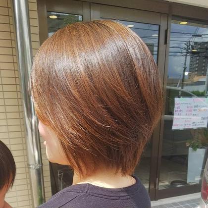 大人の艶カラー&ミディアムショートスタイル hair salon a^-to所属・福田 智重子のスタイル