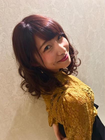 カラー パーマ ヘアアレンジ ミディアム 秋先取り!