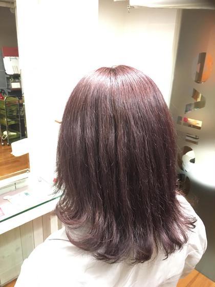 カラー ミディアム 明るい髪色からバイオレット系の色味を入れました!