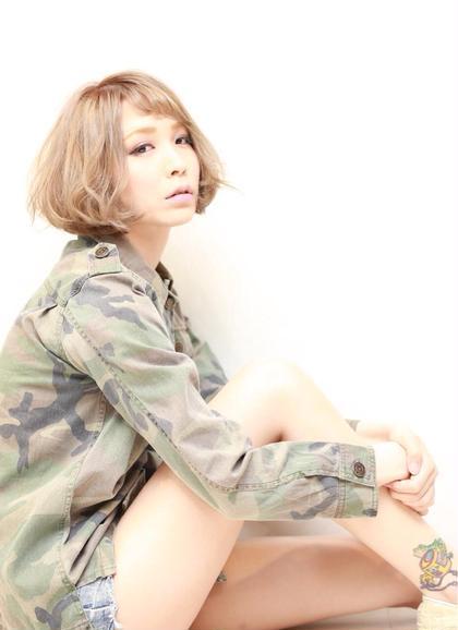 ハイトーンカラー✖︎ボブ ()inni hair design works所属・HIROTAHAYATOのスタイル