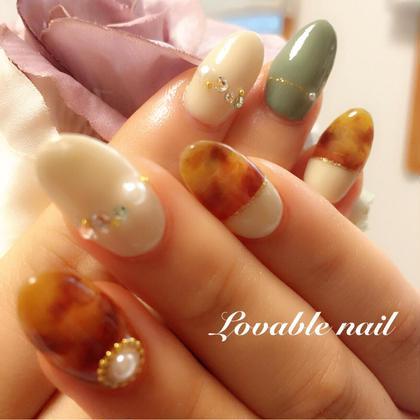 べっ甲で秋色ネイル lovable nail所属・大沢敦子のフォト