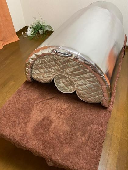 ◎赤外線ドームで身体を温めます✨120分たっぷり全身リンパケア&ロミロミオイルトリートメント