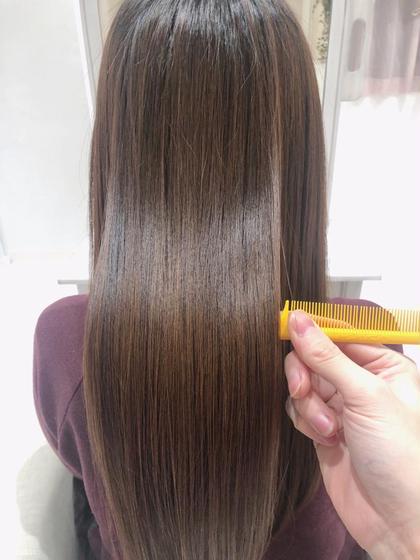 【髪質改善】カット+オーガニックカラー+酸熱型ケラチントリートメント