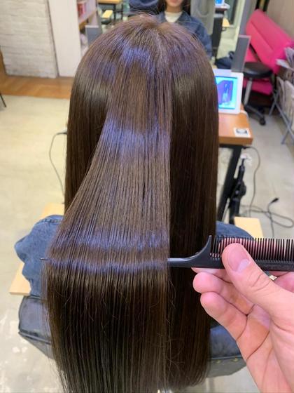 ❣️地毛の様なサラサラ感❣️1日2名限定‼️カット+縮毛矯正+トリートメント💕💕