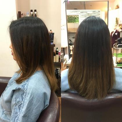 5センチくらい切らせてもらいました*\(^o^)/* ありがとうございます! Hair Salon Viage所属・W.ayumiのスタイル