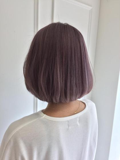 ☆ハイトーンピンクバイオレット ブリーチを2回した髪の毛にハイライトを入れ、ピンク系バイオレットでカラーしています。 Dice所属・湯田顕久のスタイル