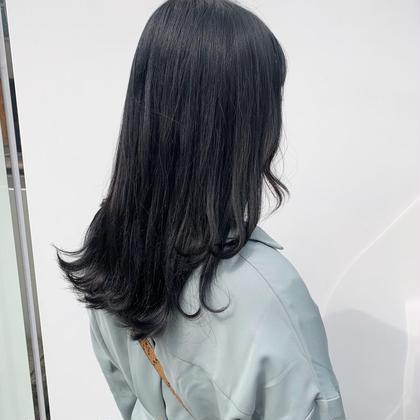 暗くても可愛く👩🏻✨就活カラー+似合わせ前髪カット(¥0)