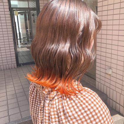 🎪ブリーチ有り🎪イヤリングカラー or 裾カラー + プチトリートメント