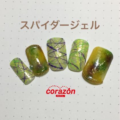 ネイルアートモデル[スパイダージェル]コース※オフケア込¥5500