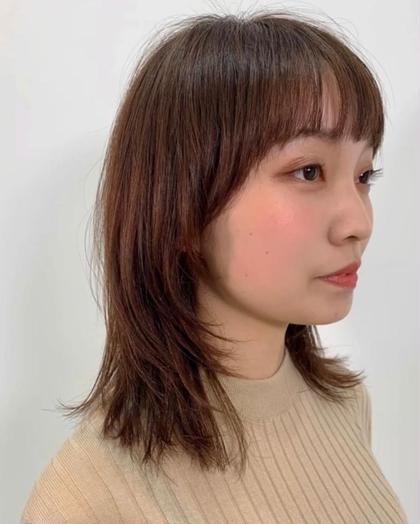 カット+ヒーリングシャンプー+ケラスターゼトリートメント+ブロー 【マッシュウルフスタイル】