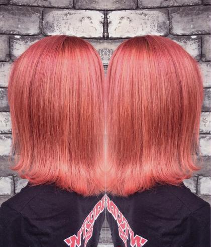ショート 外国人風カラー×バレイヤージュ ピンク☆   ワンランク上のお洒落を楽しみたい方、他と差をつけたい方にオススメのデザインカラー☆