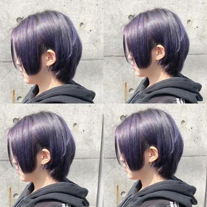 カラー ショート dark lavender