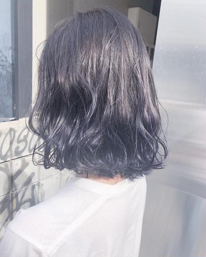 その他 カラー ヘアアレンジ ミディアム ネイビーグラデーション(^^)