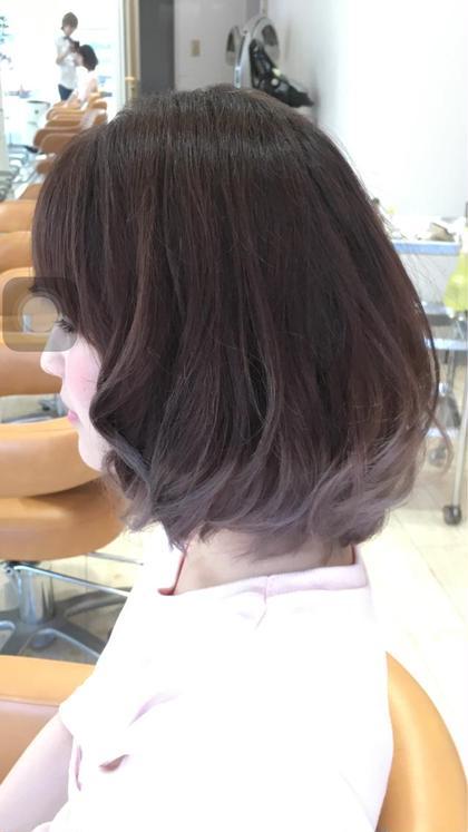毛先に少しだけグラデーションカラーさせていただきました! hair&face  ADD所属・小笠原一倫のスタイル