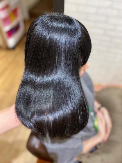 ツヤッツヤ✨髪質改善!酸熱トリートメント  シャンプースタイリング込