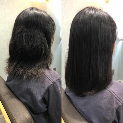 縮毛矯正 長岡諒のミディアムのヘアスタイル