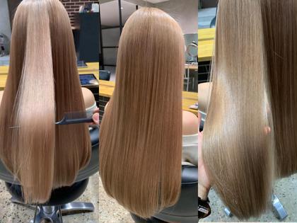 《平日⭐️限定メニュー》カット+イルミナカラー+髪質改善水素トリートメントULTOWA+炭酸泉✂️