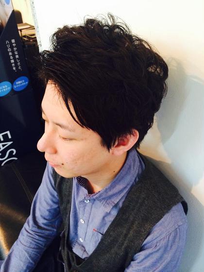 ナチュラルパーマスタイル♡ かきあげ前髪でワイルド感up♡ sync beauty:beast所属・桃谷香奈子のスタイル