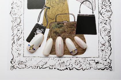 モダンオーロラ 10本アート定額コース ¥8400 mary nail&eyelash所属・橋本隆子のフォト