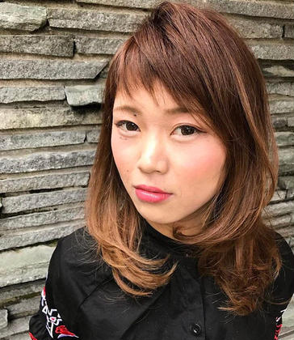 U hair 師勝所属・山田奈央のスタイル