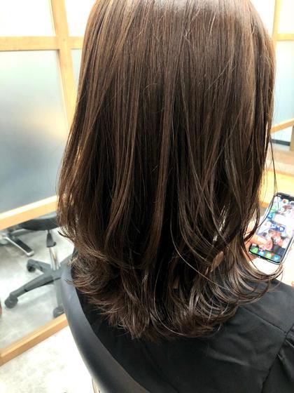 前髪カット+フルカラー