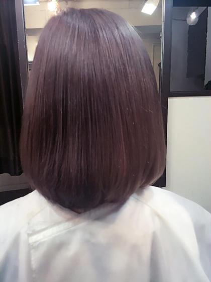 パープル色落ちでグレーに落ちて、白っぽくしたい方是非♡ ナチュラルコントロール所属・遠藤早美のスタイル