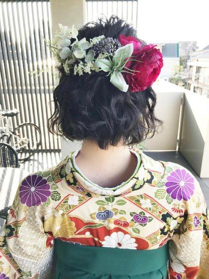 ショート 卒業式❤袴着付け&ヘアセット