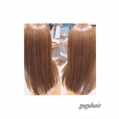 ストレート✴︎THROWアッシュ14トーン gu gu hair所属・gu gu hairMATSUのスタイル