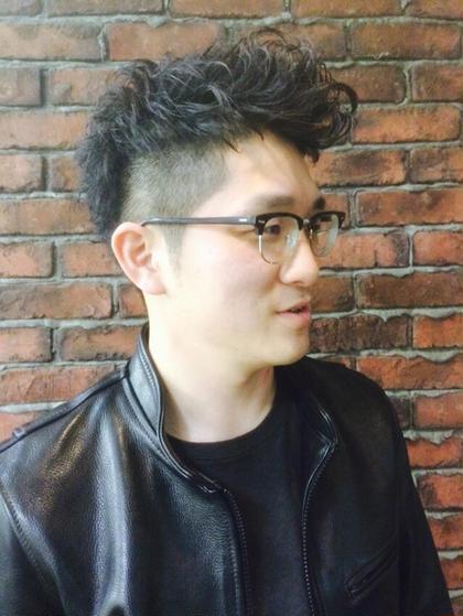 外人風アンニュイリーゼントパーマ  Honda premier   hair所属・大島潤也のスタイル