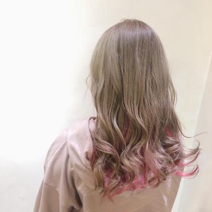 🌟<理想の髪色にしたいかた❣️>ハイトーンダブルカラー🌟