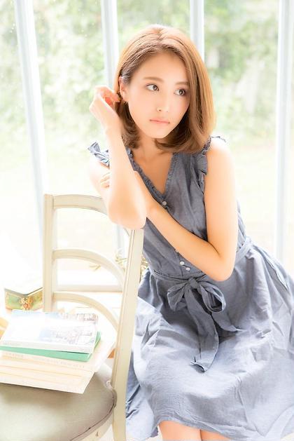 かきあげ、耳かけ、透明度100% felice  (フェリーチェ)所属・トップスタイリストoshimaのスタイル