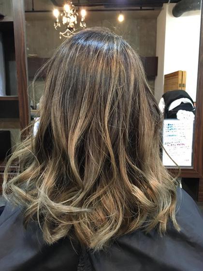 地毛を生かしたブリーチメッシュスタイル Hair&Make   breatth所属・尾股麻貴のスタイル