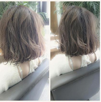 メローアッシュ グレー MATSUDAのショートのヘアスタイル