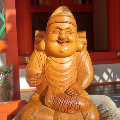 1月10日水曜日午前中生田神社にご挨拶に行きました恵比寿様です リラクゼーションサロン 気楽新所属・金野奈津江のフォト