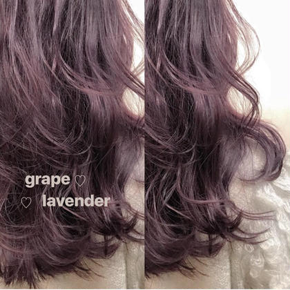 ♡ グレープラベンダー ♡ ♡natsuki♡のセミロングのヘアスタイル