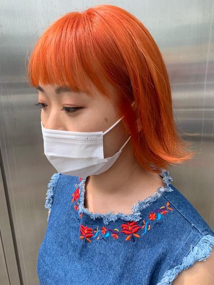🧡オレンジ🧡人気爆発中💣韓国女子に大人気🇰🇷これであなたも韓国アイドル✨(ブリーチ込)
