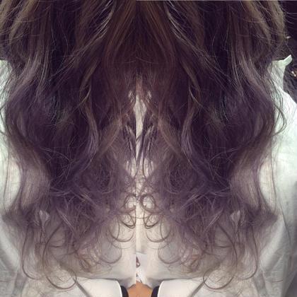 モーブバイオレットグラデーション  紫が強く出過ぎないカラーリング Meret所属・皆巳達郎のスタイル