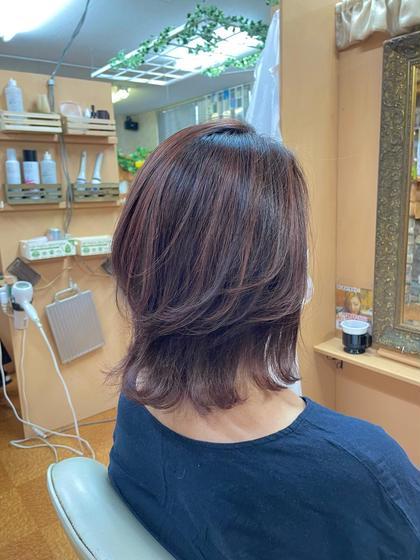 💛白髪にお悩み解決クーポン白髪ぼかしハイライト🌼+カット+カラー+4ステップ補修トリートメント付💛