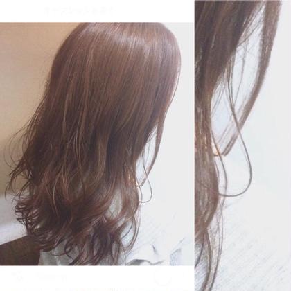 柔らかなピンクベージュで透け感のある春スタイル MOPS金沢文庫店所属・阿部加奈子のスタイル