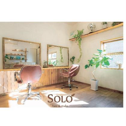 緑に囲まれた店内 SOLO所属・ウエタシンヤのスタイル