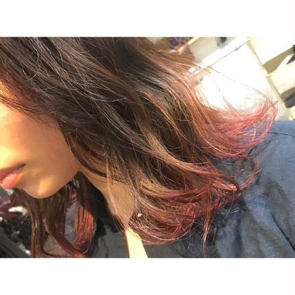 カラー ミディアム medium style .  gradation color 【 chocolate brown & pink💕】    ミディアムボブなスタイルは、 毛先の色を変えて 外ハネさせると今っぽくて おしゃれです🍃    1回のブリーチでも ここまで綺麗なピンク、入ります💓   夏は毛先だけでも 明るくすると可愛いです✨    全体、ブリーチする勇気がない方や 普段、よく巻く方は本当におすすめです‼️
