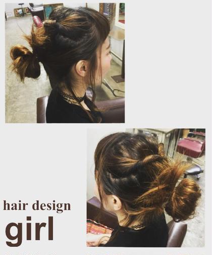 ヘアーアレンジ hair design girl所属・桑江ナナのスタイル