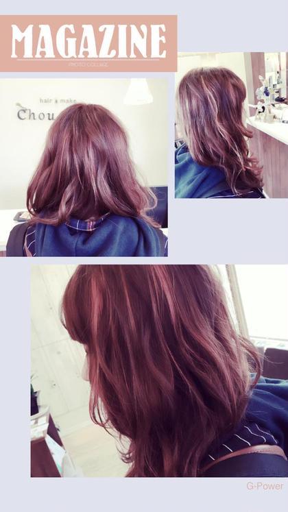 ピンクでウィービングして春っぽく❤️ hair&make chouchou所属・米澤澄絵のスタイル