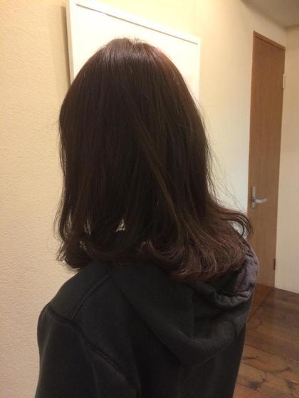 カラー セミロング パーマ ナチュラルベージュ✨春らしいふんわりサラサラヘアー(^-^)